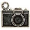 Camera Charm, Base Metal Plated in Imitation Rhodium