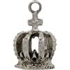 King's Crown Charm, Base Metal Plated in Imitation Rhodium