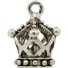 Crown Charm, Base Metal Plated in Imitation Rhodium