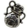 Magic Gift Bag Charm, Base Metal Plated in Imitation Rhodium