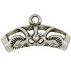 Filigree 5 MM Slider, Base Metal Plated in Imitation Rhodium, Barrel Slider Bead