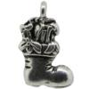 Stuffed Stocking Charm, Base Metal Plated in Imitation Rhodium
