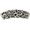 Filigree 5 MM Slider, Antique silver, Base Metal Plated in Imitation Rhodium, Barrel Slider Bead