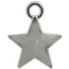 Small Star Charm, Base Metal Plated in Imitation Rhodium