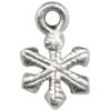 Small Snowflake Charm, Base Metal Plated in Imitation Rhodium