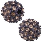 Beadelle® Pave Crystal Bead Chocolate/Light Colorado Topaz 10mm