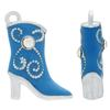 Blue Enameled Cowboy Boot with Crystal Accent