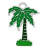 Enameled Green Palm Tree Dangle Charm