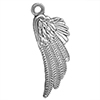 Angel Wing Charm, Base Metal Plated in Imitation Rhodium