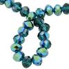 Spark Briolette Beads Emerald AB 8mm