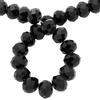 Spark Briolette Beads Jet 8mm