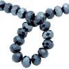 Spark Briolette Beads Jet Blue Hematite 8mm