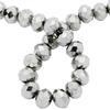 Spark Briolette Beads Jet Hematite 8mm
