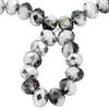 Spark Briolette Beads Light Chrome 8mm