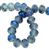 Spark Briolette Beads Metallic Blue 8mm
