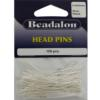Head Pins, 1.97 in (50 mm), Silver Plated, 108pcs