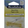 Head Pins, 2.0 in (50.8 mm), Gold Color, 8pcs