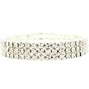 3 Row Stretch Rhinestone Bracelet, Crystal/Silver