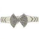 Bow Cuff Rhinestone Bracelet, Crystal/Silver