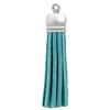 Faux Suede Tassel Turquoise 2""