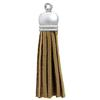 Faux Suede Tassel Brown 2""