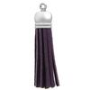 Faux Suede Tassel Purple 2""