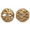 Gold Plated Perforated Bead 08MM