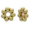 Gold Plated Daisy Spacer Bead 6MM