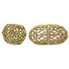 Gold Plated Large Oval Perforated Bead 19X11MM