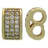 Gold Plated Double Bead with Pave Finish 9x5MM