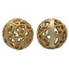 Gold Plated Filigree Bead 10MM