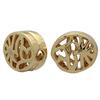 Gold Plated Filigree Flat Oval Bead 9X8MM