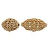 Gold Plated Filigree Oval Bead 18x10MM