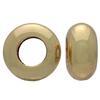 Ring Spacer Bead for Snake European Fix Charm Bracelet 10mm, Gold