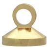 Glue on Cap for Pearl or Bead with Ring  Gold  Height 4.5mm x 5mm Diameter