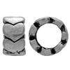 Ring Spacer Bead for Snake European Fix Charm Bracelet 8mm, Rhodium
