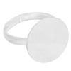 Silver Plated Adjustable Ring with Flat Disk 16mm Diameter