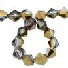 Spark Bicone Beads Bronze Shade 8mm
