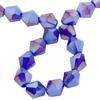 Spark Bicone Beads Cobalt AB 8mm