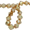 Spark Bicone Beads Golden Shadow 8mm