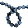Spark Bicone Beads Jet Blue Hematite 8mm