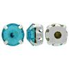 Sew On Rhinestones (in Settings) Chaton Montees SS38 Light Turquoise/Silver