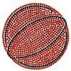 "Rhinestone Basketball Iron On Applique Patch Sun 3"""
