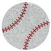 """Rhinestone Baseball Iron-On Applique Patch Crystal/ Lt. Siam 3"""""""