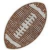 "Rhinestone Football Iron On Applique Patch Topaz/Crystal 3 1/2x2"""