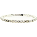 1 Row Stretch Rhinestone Bracelet, Crystal/Silver