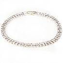 2 Row Tennis Bracelet, Crystal/Silver