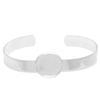 Bangle Bracelet for Epoxy Clay Silver 18mm ID Round Bezel