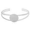 Bangle Bracelet with 20mm spot for gluing, Silver