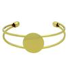 Bangle Bracelet with 20mm spot for gluing, Gold
